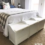 Small Bedroom Laundry Storage Benches - The Craft Patch