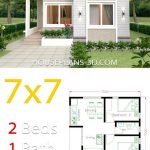 Small House Design 7x7 with 2 Bedrooms