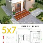 Small House Design Plans 5x7 with One Bedroom Shed Roof - Tiny House Plans