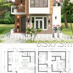 Small House Design with Full Plan 6.5x7.5m 2 Bedrooms - SamPhoas Plan