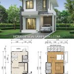 Small House design plans 5.5x11.5m with 2 bedrooms - Home Ideas