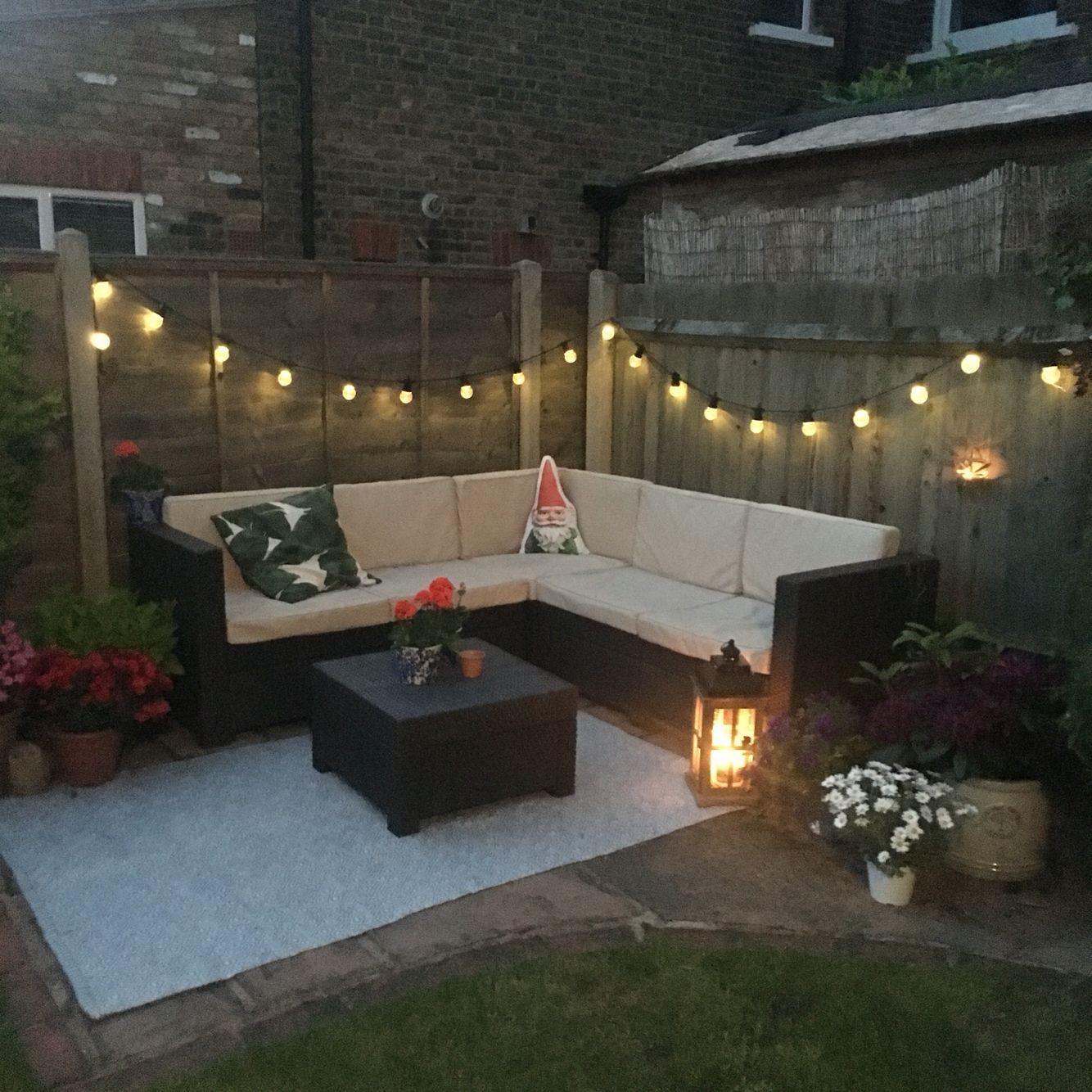 Small garden / Corner Rattan Garden Furniture / Festoons