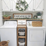 Smart Farmhouse Laundry Room Storage Organization Ideas - House Topics