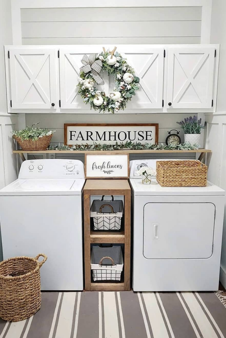 Smart Farmhouse Laundry Room Storage Organization Ideas – House Topics
