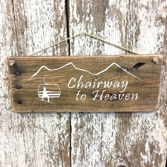 Snowboard Decor Snowboarding gifts Ski Lift Chair Lift Sign Snowboard sign ski bum Reclaimed Wood Sign Ski Lodge Gift for Snowboarder Gift