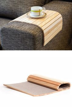 Sofa Tray Table NATURAL / Sofa Arm Tray / Unique Gift Idea / Small Spaces / Wooden Coffee Table / Tray Table / Wood End Table / Sofa Table