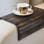 Sofa lade tabel VINTAGE zwart hout tabel Laptop Tray, rustieke Ottomaanse lade, landelijke salontafels, lade met houten Ottomaanse kleine koffietafel, lade