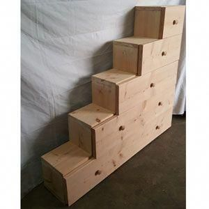 Solid Wood Custom Made Stairs For Bunk Or Loft Bed (300 Lbs Weight Capacity) (USMFS) – More Than A Furniture Store