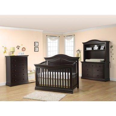 Sorelle Providence 3 Piece Nursery Set in Dark Espresso – Crib, Double Dresser, …