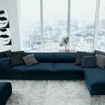 Source Modern comfortable corner sofa set design blue velvet sofa furniture on m...