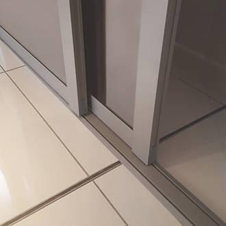 Spacepro Shaker 2 Door Sliding Wardrobe Door Kit Stone Grey 1145 x 2260mm