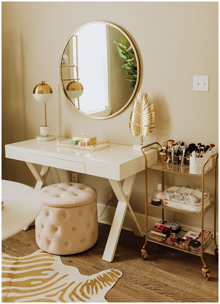 Spare Bedroom Transformed Into Glam Office – Haute Off The Rack
