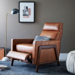 Spencer Wood-Framed Leather Recliner