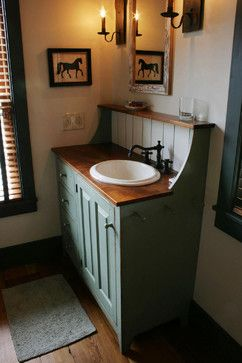 St. Louis 10 primitive Log Cabin Kitchen Bar Bathroom Vanities – traditional – b…