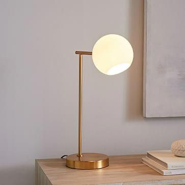 Staggered Glass USB Table Lamp – Milk