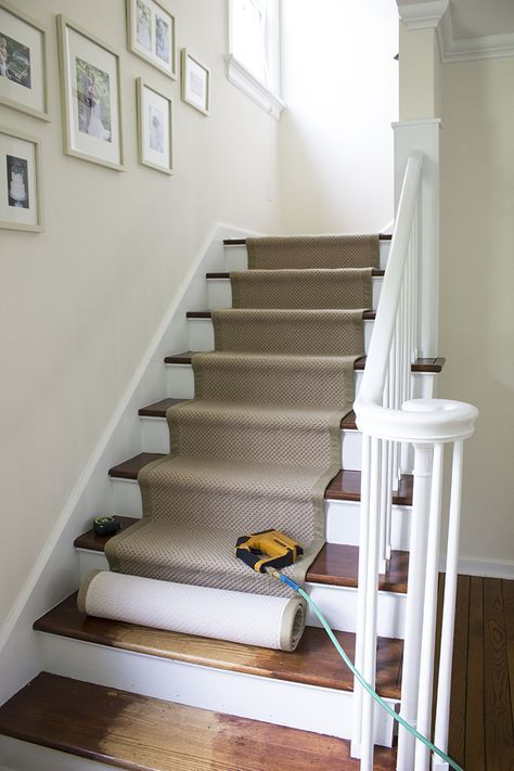 Stair Runner DIY with Sisal Rugs Direct – Room for Tuesday