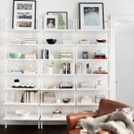 Stairway White Wall Mounted Bookshelf + Reviews | CB2