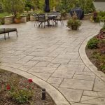 Stamped Concrete and Decorative Seat Wall - Butterfield Color®