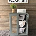 Stand Up Laundry hamper, upright laundry sorter, hold 3 laundry baskets