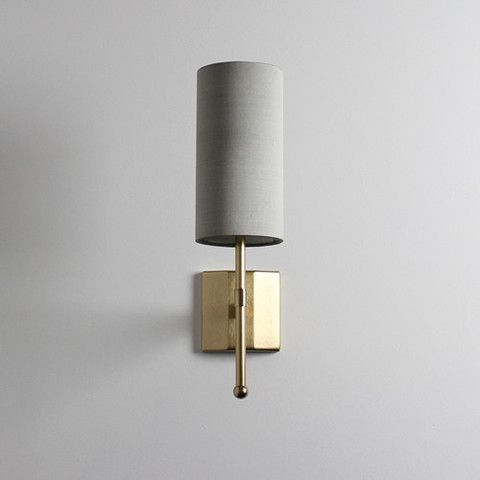 Standard Single Stem Wall Light with Silk – Tigermoth Lighting