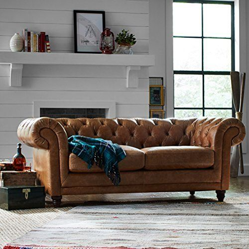 Stone & Beam Bradbury Chesterfield Modern Sofa, 79″W, Best offer