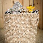 Stunning Crochet Basket Toy Storage