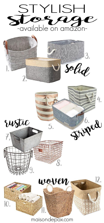 Stylish Storage Baskets and Bins (Amazon Finds) – Maison de Pax