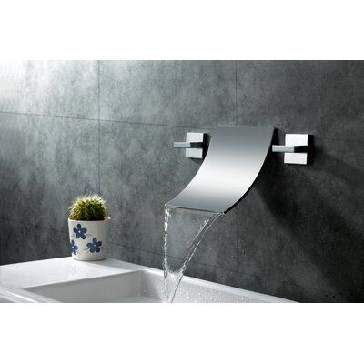 Sumerain Wall Mount Waterfall Bathroom Sink Faucet | Wayfair