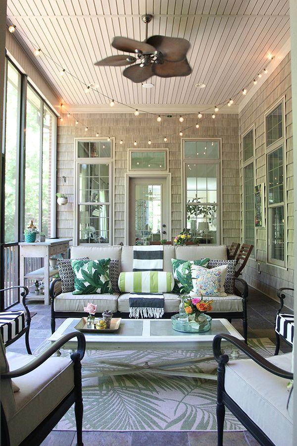 Summer Screened Porch Decor