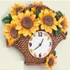 Sunflower Kitchen Clocks for Sunny Home Decor