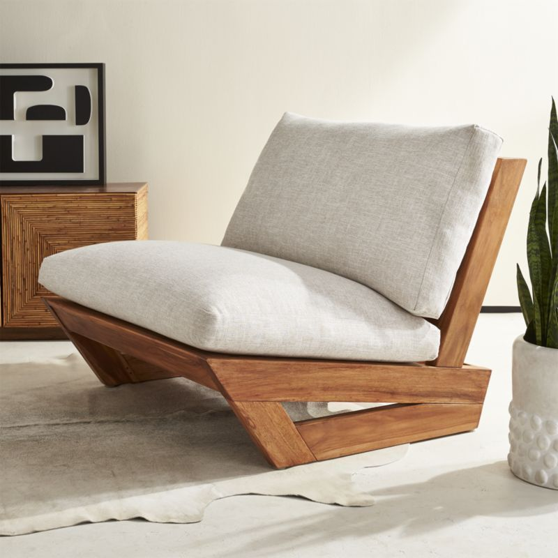 Sunset Teak Lounge Chair + Reviews | CB2