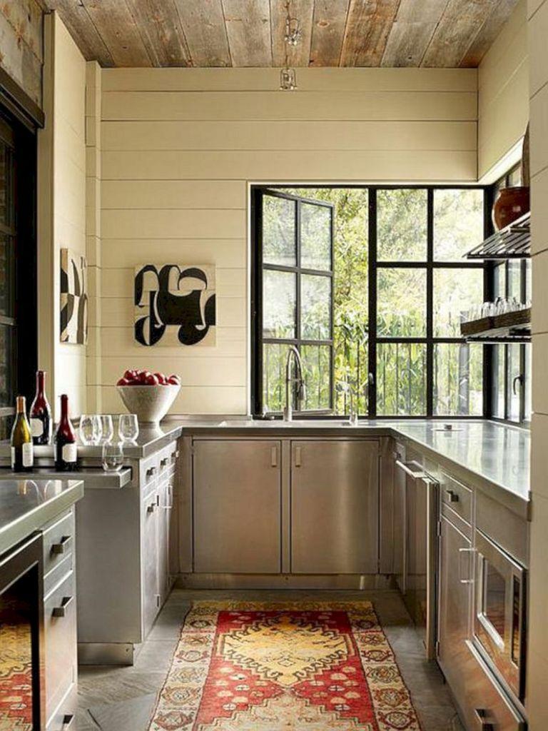 Super Modern Stainless Steel Kitchen Cabinet Design For Cozy Kitchen Ideas 100