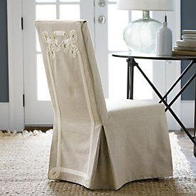 Suzanne Kasler Linen Parsons Chair Slipcover  | Ballard Designs