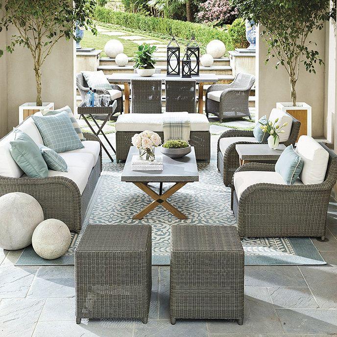 Suzanne Kasler Versailles Lounge Chair with Cushions | Ballard Designs