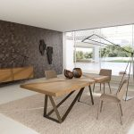 TRACK by Luigi Gorgoni - Contemporary dining table / oak / mdf / steel by ROCHE BOBOIS | ArchiExpo
