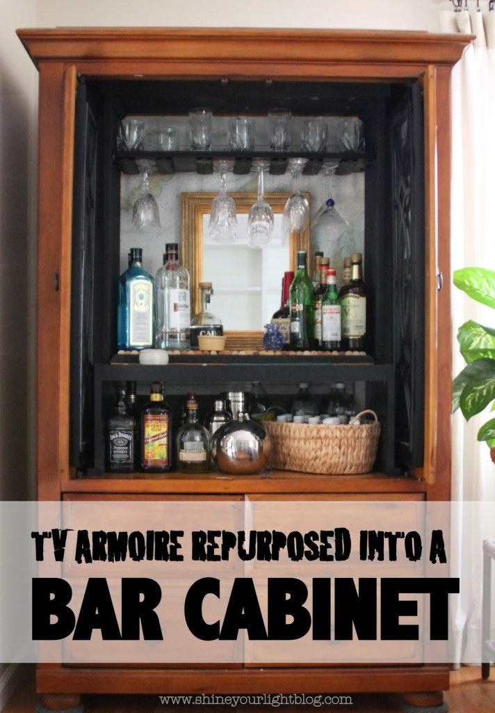 TV Armoire Turned Bar Cabinet – Shine Your Light