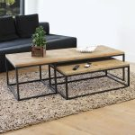 Table basse industrielle gigogne