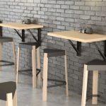 Table murale escamotable idéale petits espaces