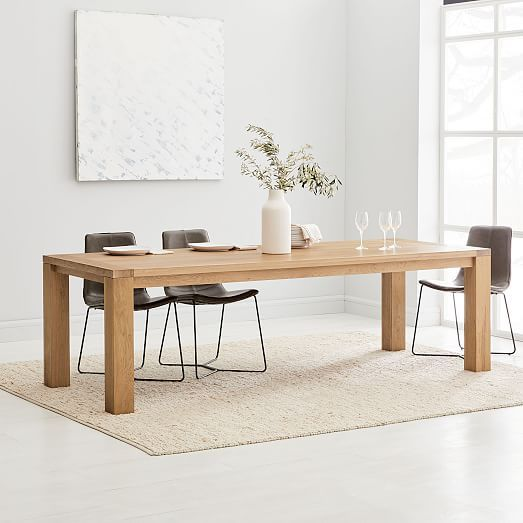 Tahoe Solid Wood Dining Table – Natural Oak