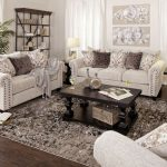 Tan Chenille Loveseat with Nailhead Trim | Jerome's