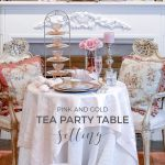 Tea Party Table Setting: Pink and Gold Versace Plates