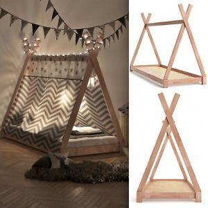Teepee Tent Bed Frame Wooden Children Cabin Bed Kids Sigle Bed Tipi Bedstead New 704335213912 | eBay