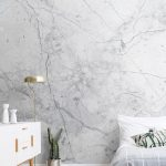 Textured White Marble Wallpaper | MuralsWallpaper