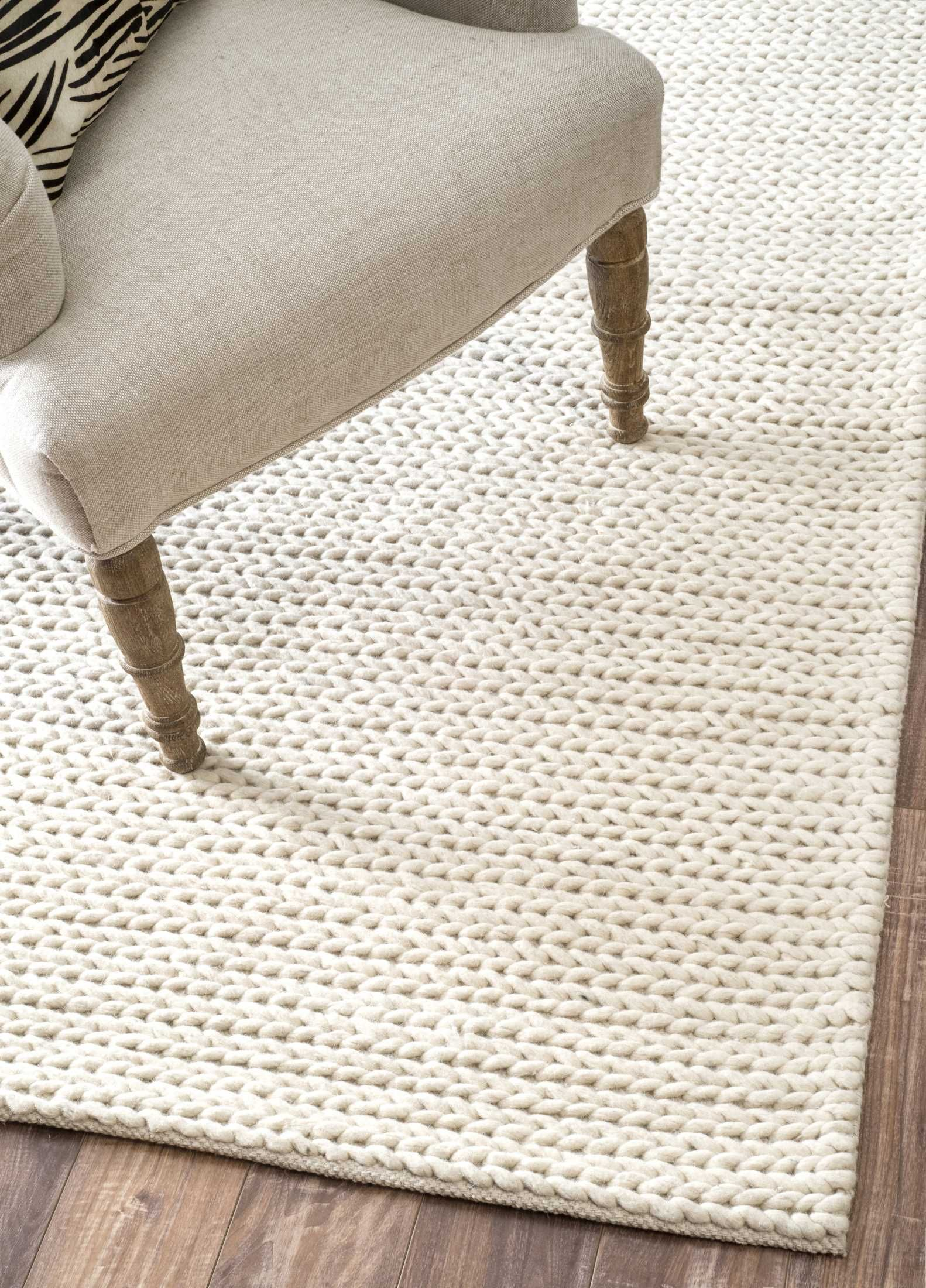 Textures Braided Off White Rug