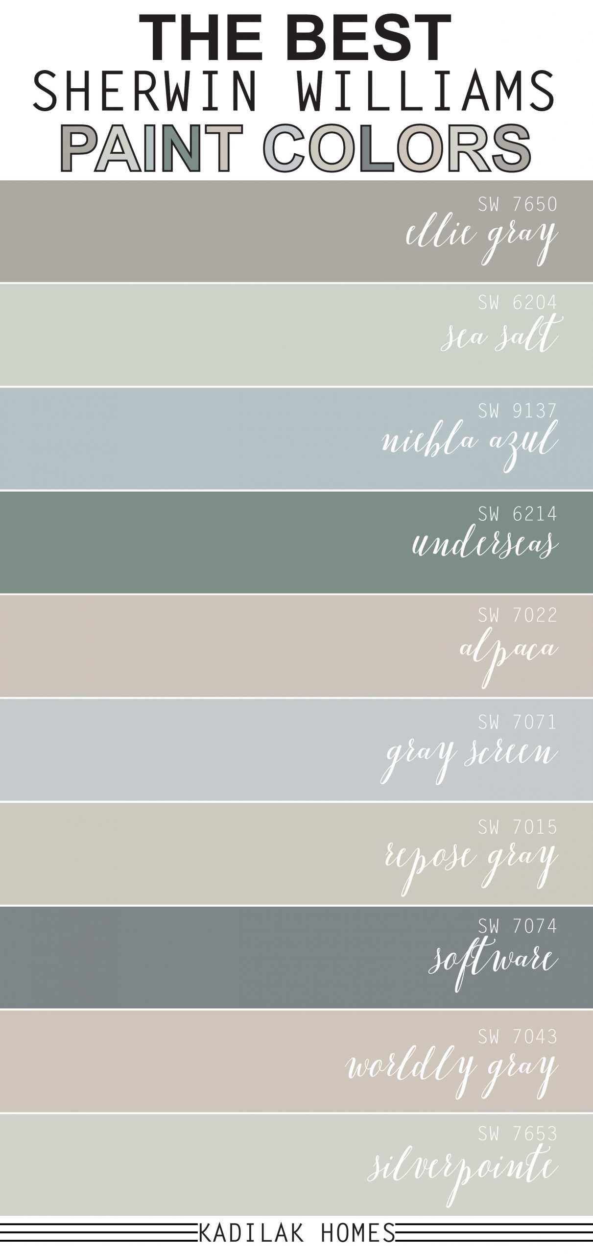 The Best Sherwin Williams Paint Colors