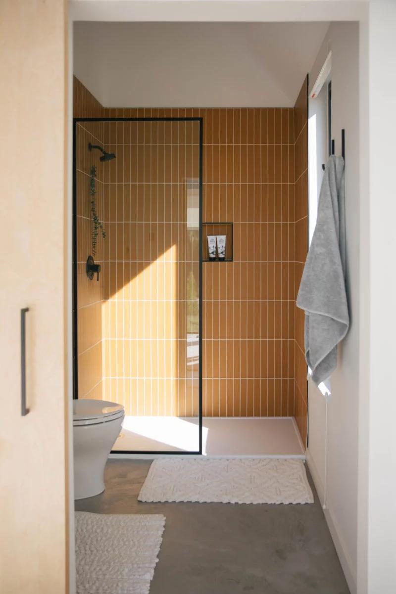 The Nooq: Falcon Glass Tile Bathroom  | Fireclay Tile