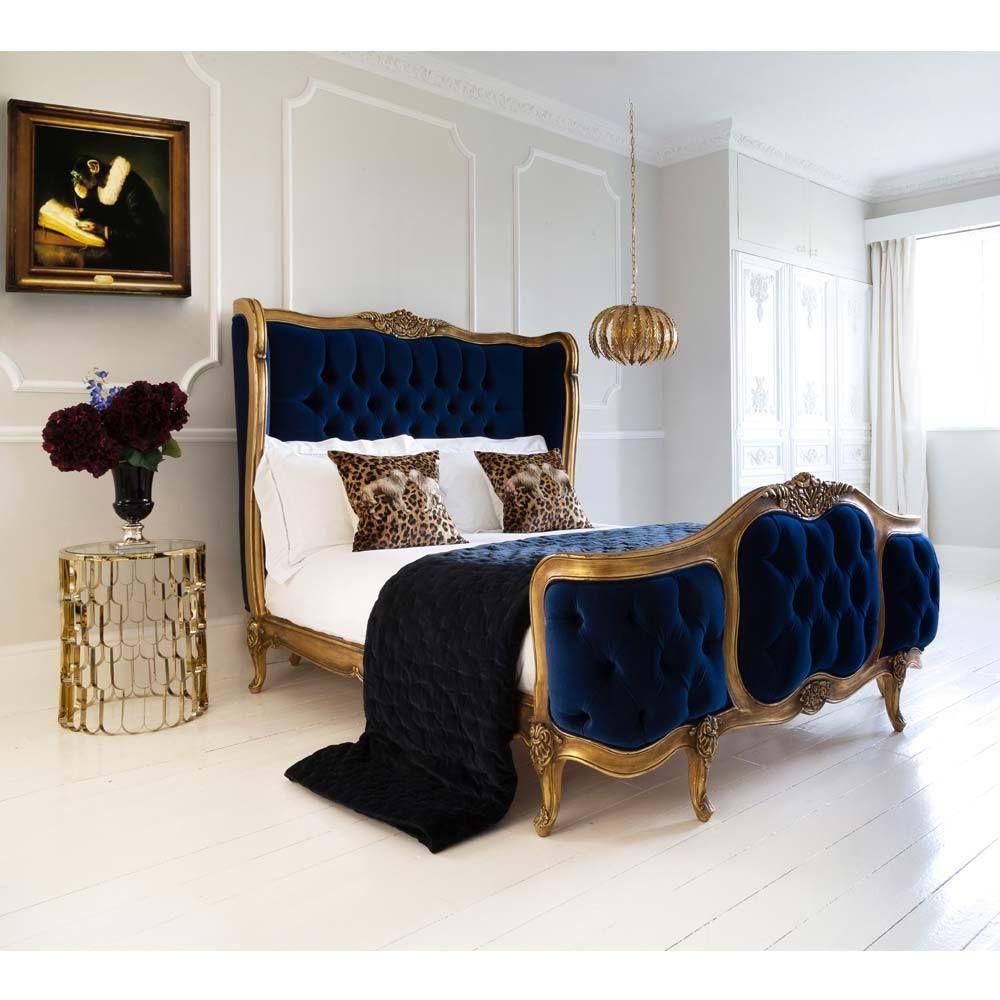 The Palais de Versailles Sacré Bleu Velvet Bed