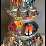 The Perfect Organizer For A Small Corner Desk- need this for my desk at school a...