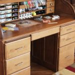 The Stamp-n-Storage Roll-Top Desk, made of solid wood, is specially designed to ...