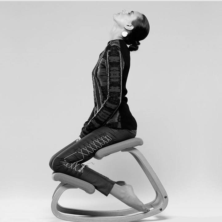 The Varier Variable Kneeling chair. Totally sensational for building the strengt…
